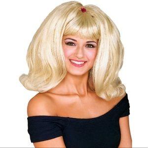 🆕 Rubie's FLIP BLONDE Wig Adult Costume Retro Big